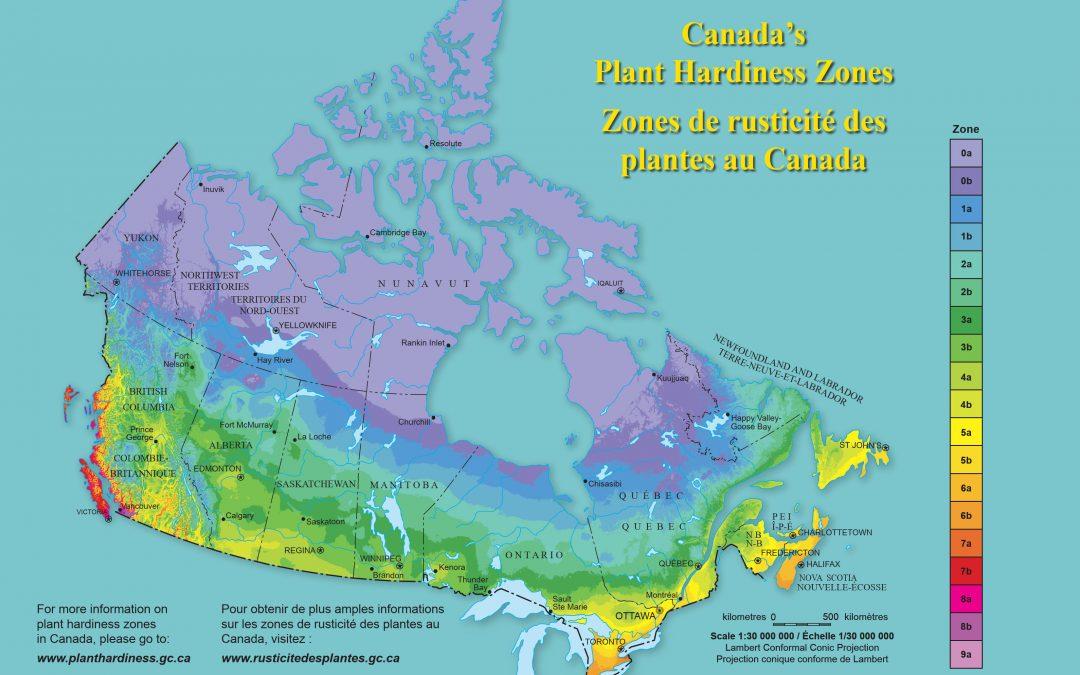Zones de Rusticité & Dates de Gel